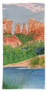 Red Rock Crossing Beach Towel by Aimee Mouw