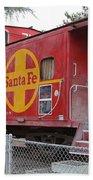 Red Sante Fe Caboose Train . 7d10325 Beach Sheet