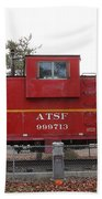 Red Sante Fe Caboose Train . 7d10328 Beach Towel
