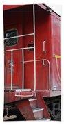 Red Sante Fe Caboose Train . 7d10330 Beach Towel