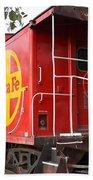 Red Sante Fe Caboose Train . 7d10332 Beach Sheet