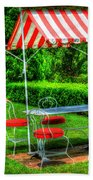 Red Stripes Beach Towel
