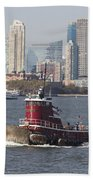 Red Tug Two Beach Towel