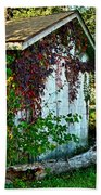 Red Vine Shed Beach Towel