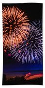 Red White And Blue Beach Towel by Robert Bales