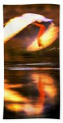 Red White Reflection Beach Towel
