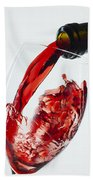 Red Wine Pour Beach Towel
