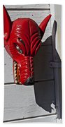Red Wolf Mask Beach Towel