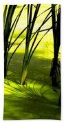 Reeds In Pond Beach Sheet