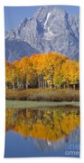 Reflection At Oxbow Bend Beach Towel