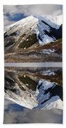 Reflection In Lake Pearson, Castle Hill Beach Towel