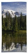 Reflection Lake And Mount Rainier Beach Towel
