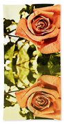 Reflection Of A Warm Rose Beach Towel