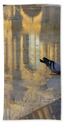 Reflection Of The Louvre In Paris Beach Towel