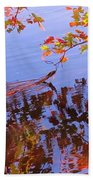 Reflections And Currents Beach Towel
