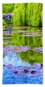 Reflections At Giverny Beach Towel