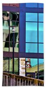 Reflections In San Antonio Texas Beach Towel