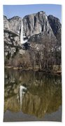 Reflections In The Merced Beach Towel