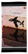 Reflections Of An Orca In Stained Glass Beach Towel