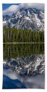 Reflections On String Lake Beach Towel