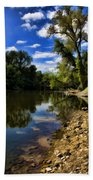 Reflections On The Kankakee Beach Towel