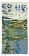 Reflective Water Abstract Beach Towel