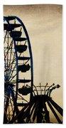 Remember When Ferris Wheel Beach Towel