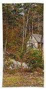 Remote Vermont Cabin Beach Sheet