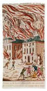Representation Of The Terrible Fire Of New York Beach Towel