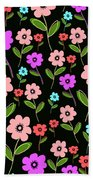 Retro Florals Beach Towel by Louisa Knight