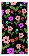 Retro Florals Beach Towel