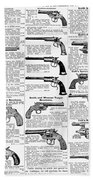 Revolvers And Pistols, 1895 Beach Towel