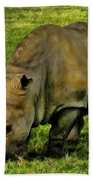 Rhinoceros 101 Beach Towel
