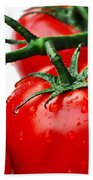 Rich Red Tomatoes Beach Towel