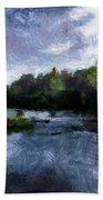 Rideau River View From A Bridge Beach Towel