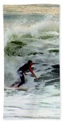 Riding In Beauty Beach Towel by Karen Wiles