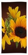 Ring Of Sunflowers Beach Towel