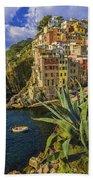 Rio Maggiore Cinque Terre Italy Beach Towel