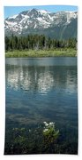 Ripples On Lake Of Mt Tallac Beach Towel