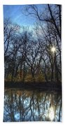 Rising On The River Beach Towel