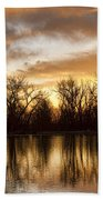 Rising Sun At Crane Hollow Beach Towel