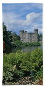 River In Front Of A Castle, Johnstown Beach Towel