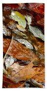River Leaves Beach Towel by LeeAnn McLaneGoetz McLaneGoetzStudioLLCcom