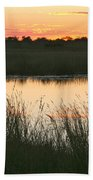 River Sunset Beach Towel