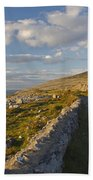 Road Along The Burren Coastline Region Beach Towel