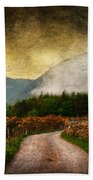 Road By The Lake Beach Towel