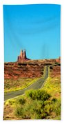 Road To Paradise Beach Towel