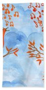 Robin Singing Competition Beach Towel