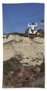 Robonaut 2 Poses Atop Its New Wheeled Beach Sheet