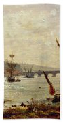 Rochester Cathedral And Castle Beach Towel